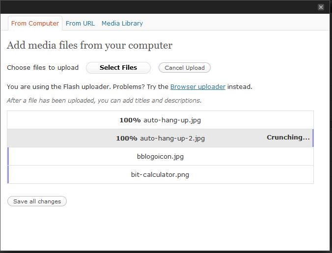 Cargador archivos WordPress