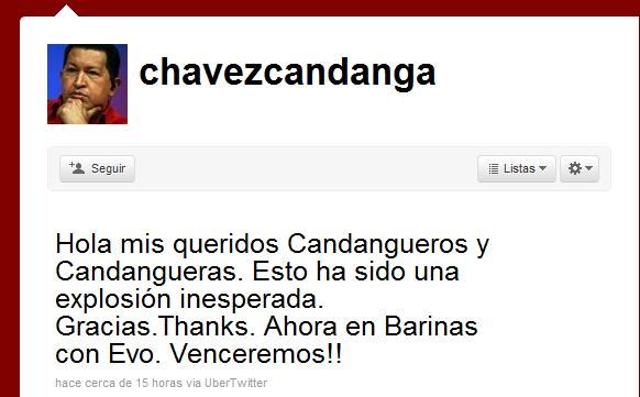 Hugo Chavez Twitter