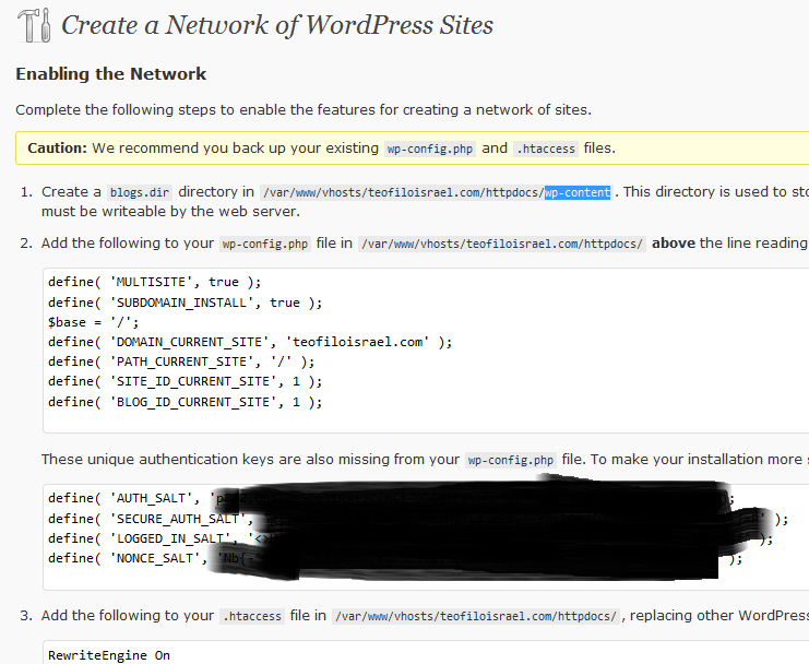 wordpress-network-modificate
