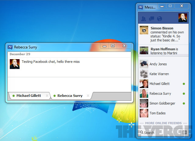 Facebook chat windows