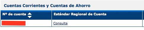 Estandar regional de la cuenta