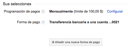 Transferencia Bancaria Google AdSense