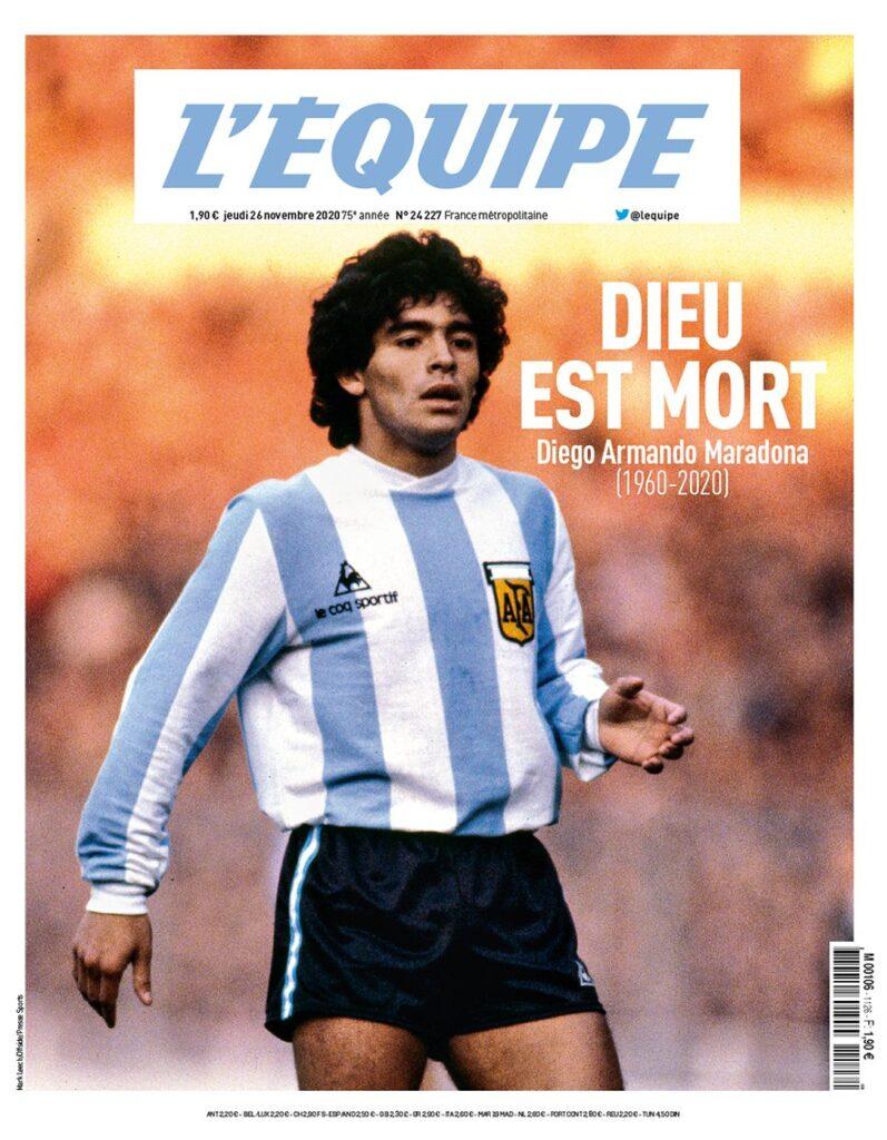 Dios está muerto - Publica revista francesa sobre Maradona