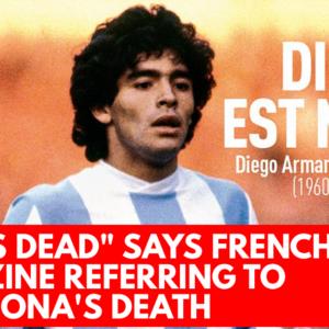 God is dead says French magazine referring to Maradona's death