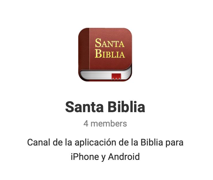 Canal de Telegram de la Santa Biblia App