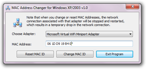 Mac Adrress Changer