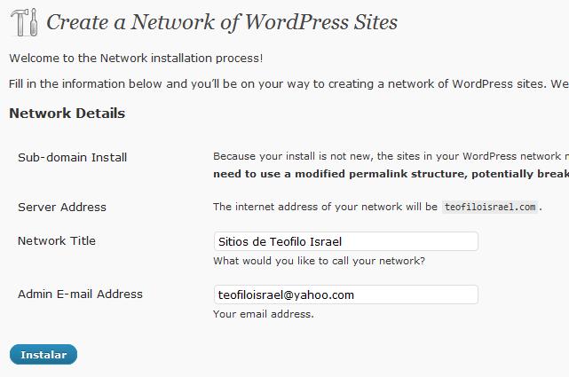 wordpress-network-create