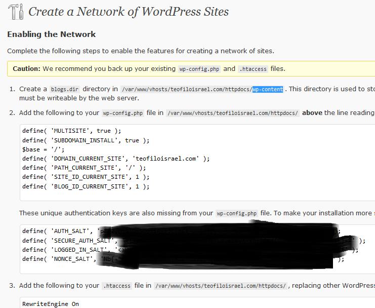 wordpress-network-modificate