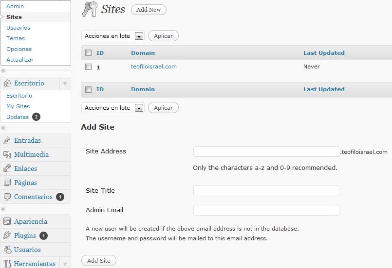 wordpress-network-sites
