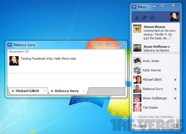 Facebook chat windows