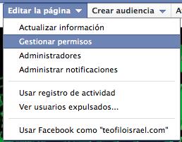 Activar respuxestas pagina facebook 1