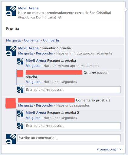 Responder comentarios facebook