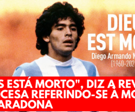 Deus está morto, diz a revista francesa referindo-se à morte de Maradona