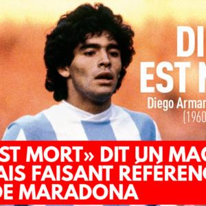 «Dieu est mort» dit un magazine français faisant référence à la mort de Maradona