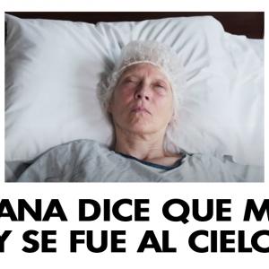 Anciana dice que murió y se fue al cielo